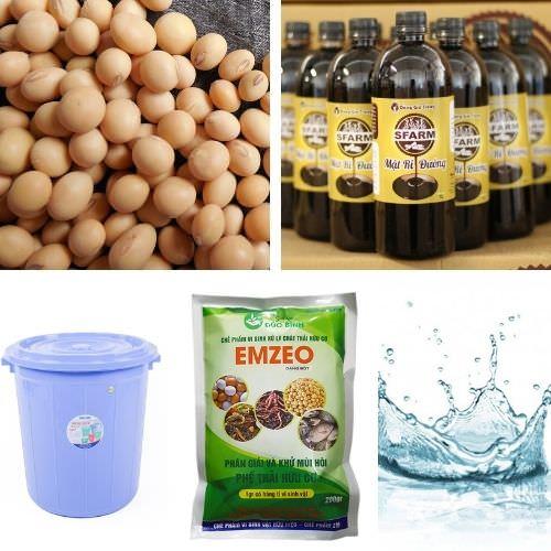 Nguyên liệu ủ phân đậu tương